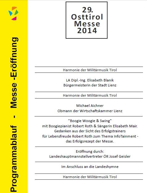 Eröffnungsprogramm der 29. Osttirolmesse in Lienz